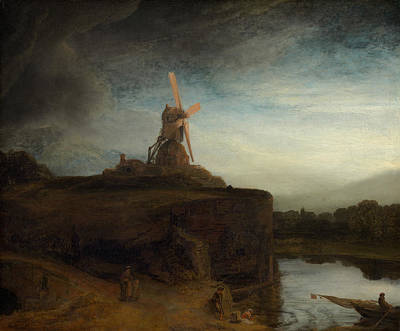 17th Century Painting - The Mill by Rembrandt