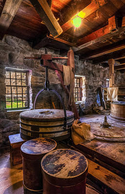 Grist Mill Photograph - The Milling Room by Mark Papke
