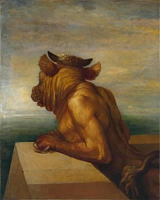 Minotaur Painting - The Minotaur by George Frederic