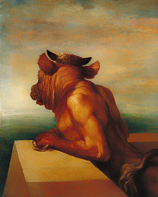 Half Man Painting - The Minotaur  by Mountain Dreams