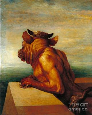 Minotaur Painting - The Minotaur Tate Britain by MotionAge Designs