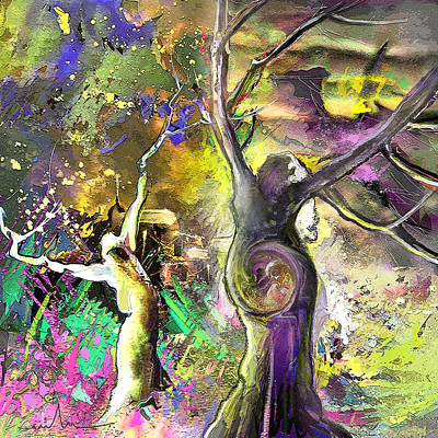 The Miraculous Conception Print by Miki De Goodaboom