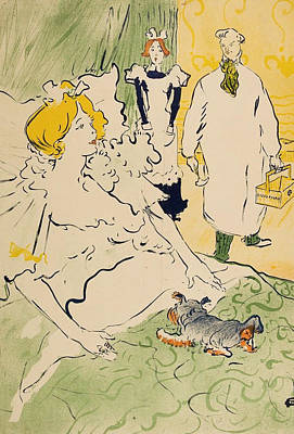 Bed Painting - The Modern Worker by Henri de Toulouse-Lautrec
