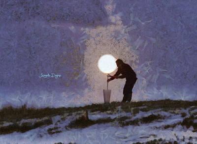 Coastline Digital Art - The Moon Keeper - 4 Of 7 - Da by Leonardo Digenio