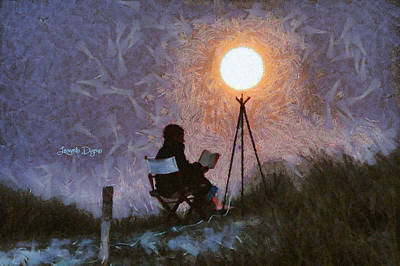 Coastline Digital Art - The Moon Keeper - 5 Of 7 - Da by Leonardo Digenio