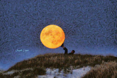 Landscape Digital Art - The Moon Keeper - 6 Of 7 - Da by Leonardo Digenio