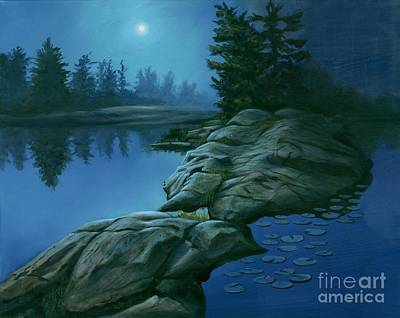 The Moonlight Hour Print by Michael Swanson