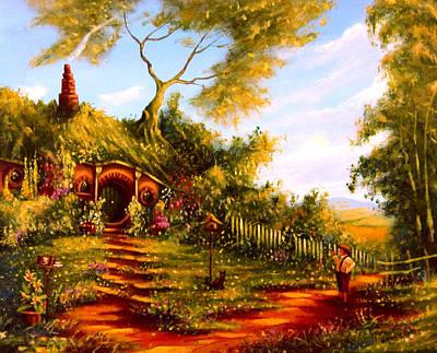 Tolkien Painting - The Morning Standoff by Joe Gilronan