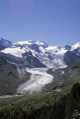 The Morteratsch Glacier Till Print by Taylor S. Kennedy