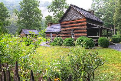 Log Cabins Photograph - The Mountain Farm Museum II by Carol R Montoya