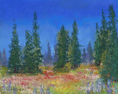 Impressionistic Painting - The Mountain Meadow by David Patterson