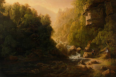 The Mountain Torrent Print by Francis Danby