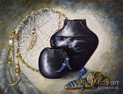 Dreamcatcher Painting - The Mouse And The Moccasin by Donna Vesely