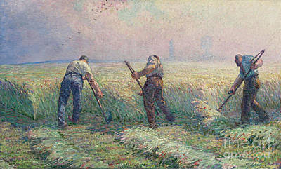 Impressionism Painting - The Mowers In The Outskirts Of Lagny by MotionAge Designs