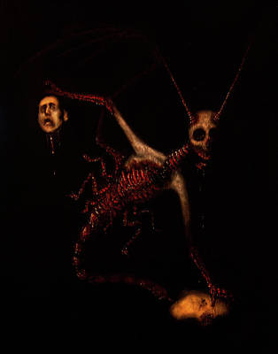 Dark Evil Scary Drawing - The Murder Bug by Ryan Nieves