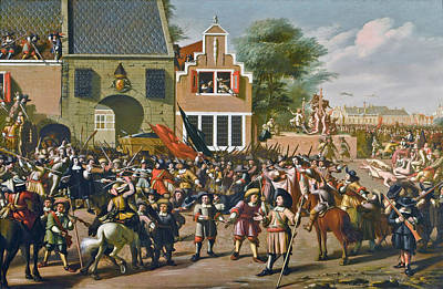 Painting - The Murder Of The Brothers De Witt by Pieter Fris