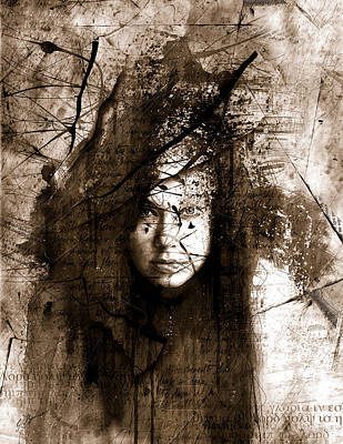 Haunting Digital Art - The Muse by Gary Bodnar