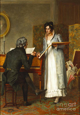 The Music Lesson  Print by Henry Stacey