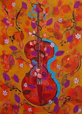 The Music Of Nature Print by Teodora Totorean