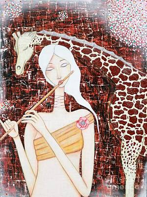Painting - The Musician by Natalie Briney