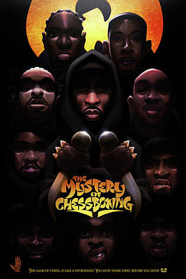 Hiphop Digital Art - The Mystery Of Chessboxing by Nelson dedosGarcia