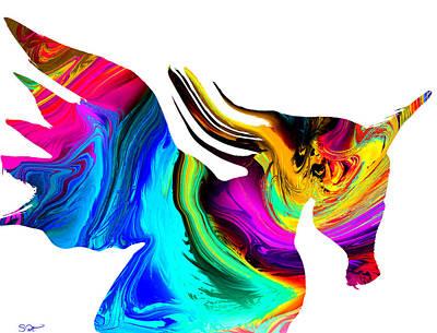 The Mythological Unicorn Print by Abstract Angel Artist Stephen K