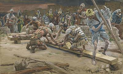 New Testament Painting - The Nail For The Feet by Tissot