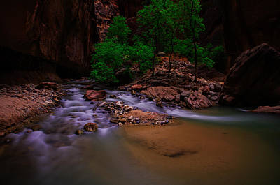 Zion National Park Photograph - The Narrows Waterfall Zion National Park by Scott McGuire