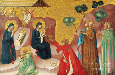 Pseudo Painting - The Nativity And The Adoration Of The Maggi by Celestial Images