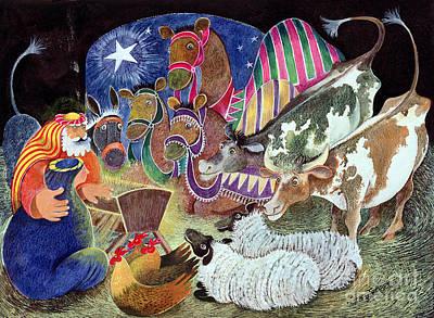 Joesph Painting - The Nativity by Lisa Graa Jensen