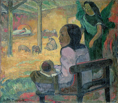 Beams Painting - The Nativity by Paul Gauguin