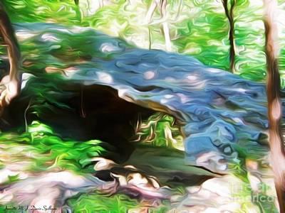 Eureka Springs Digital Art - The Natural Bridge  by Jeanette M J Davis Spillman