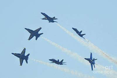 Blue Photograph - The Navy Blue Angels Nbr.7 by Scott Cameron