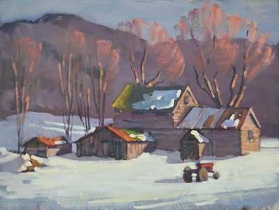 Sunlit Tree Painting - The Neighbors by Len Stomski