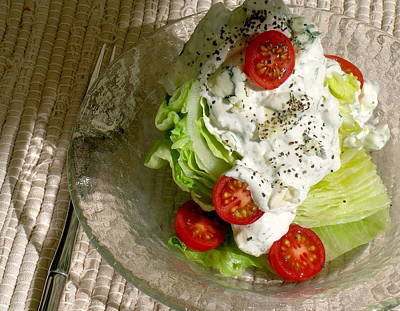 The New Classic Iceberg Wedge Salad With Chunky Blue Cheese/dill Dressing Print by James Temple