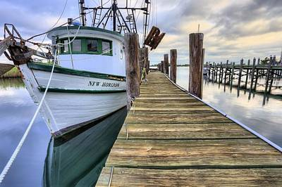 The New Horizon Shrimp Boat Print by JC Findley
