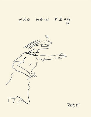 Diamond Engagement Ring Drawing - The New Ring by Ross Powell