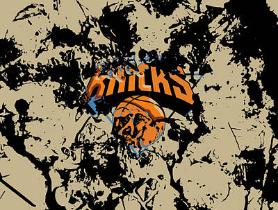 The New York Knicks 1b Print by Brian Reaves