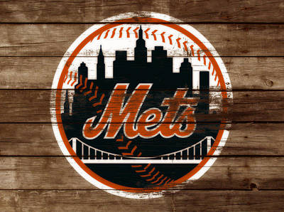 Oriole Mixed Media - The New York Mets 3a by Brian Reaves