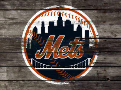 Oriole Mixed Media - The New York Mets 3i by Brian Reaves