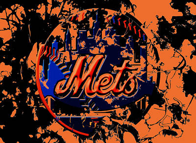 Oriole Mixed Media - The New York Mets 6b by Brian Reaves