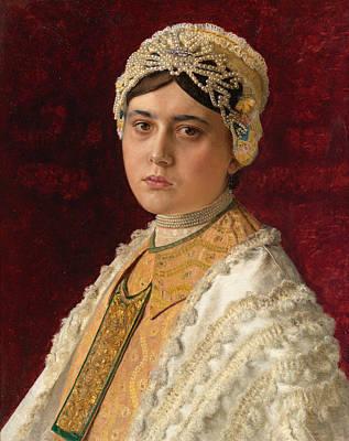 Isidor Kaufmann Painting - The Newlywed by Isidor Kaufmann