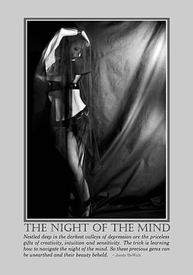 The Night Of The Mind Print by Jaeda DeWalt