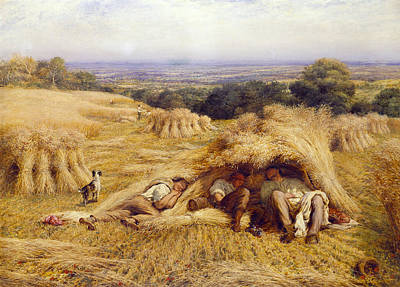 Bushels Painting - The Noonday Rest by John Linnell