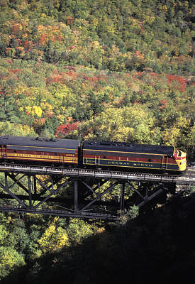 North Conway Photograph - The North Conway Scenic Railroad by Richard Nowitz