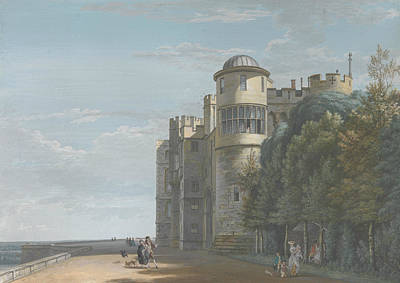 The North Terrace, Looking East Print by Paul Sandby