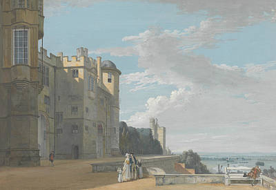 The North Terrace, Windsor Castle, Looking West Print by Paul Sandby