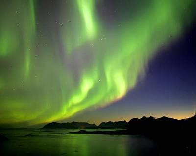 The Northern Lights Print by Wayne Bonney