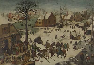 The Numbering At Bethlehem Print by Pieter Bruegel the Elder