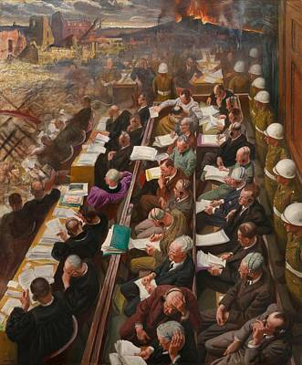 Police Art Painting - The Nuremberg Trial by Mountain Dreams